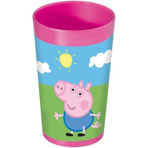 Peppa Pig Childrens Kids Plastic Tumbler Cup Pink Water Drink Parties Gift