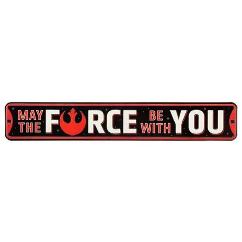 Star Wars 90168820-S May the force Be with You Embossed Tin Street Sign
