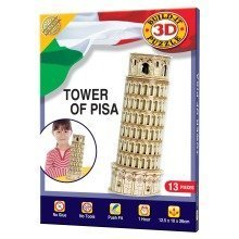 Build Your Own 3d Puzzle Model Kit - Tower of Pisa (13 Pieces)