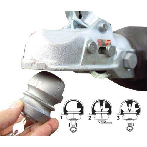 Heavy Duty Tow Ball Hitch Lock & Keys for Towing Caravan/Trailer Security