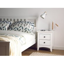 White 2 drawer bedside table JOLIET