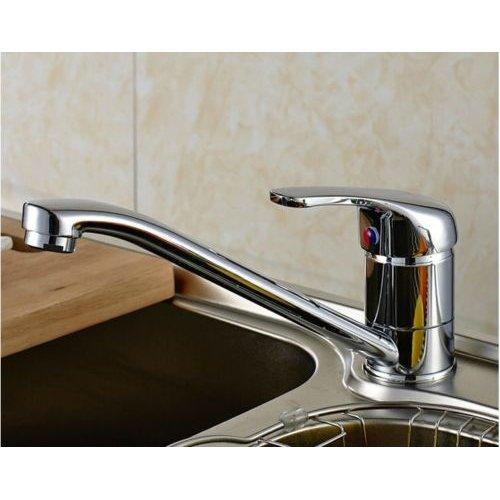 Kitchen Sink Mixer Tap Modern Chrome Brass Single Lever Mono bloc