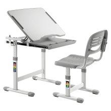 Ergonomic Kids Desk Chair Height Adjustable Children Table - Mini Grey