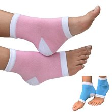 Medipaq Gel Heel Protection Socks  Relieves Pain By Reducing Friction Over The Heel 1X Pair PinkWhite