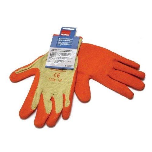 Hilka 75565508 Latex Coated Orange Gloves Size 8 Small