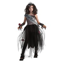 Kids Goth Prom Queen Costume