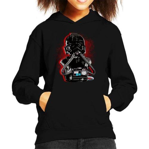 Original Stormtrooper Imperial TIE Pilot Red Burst Kid's Hooded Sweatshirt