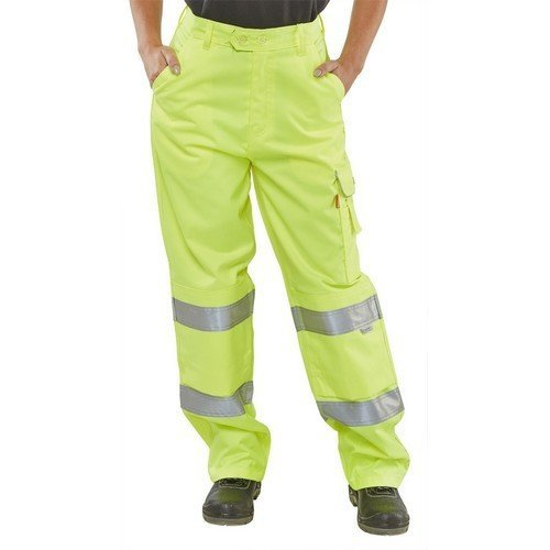 "Click LPCTENSY26 Ladies Hi Vis Yellow Trousers 26"" Size 8"