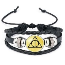 Harry Potter Bracelet with Deathly Hallows Badge