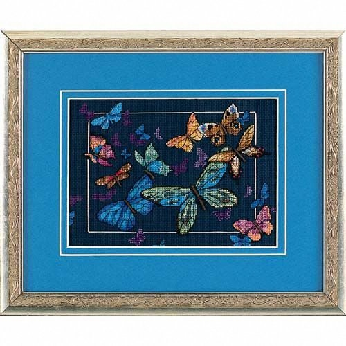 D06846 - Dimensions Counted X Stitch - Gold Petite, Exotic Butterfly
