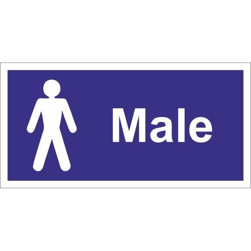 Gentlemen Wc Self Adhesive Vinyl 200mm x 100mm -  castle promotions self adhesive x 100mm 200mm vinyl sign male toilet gentlemen wc ss031sa