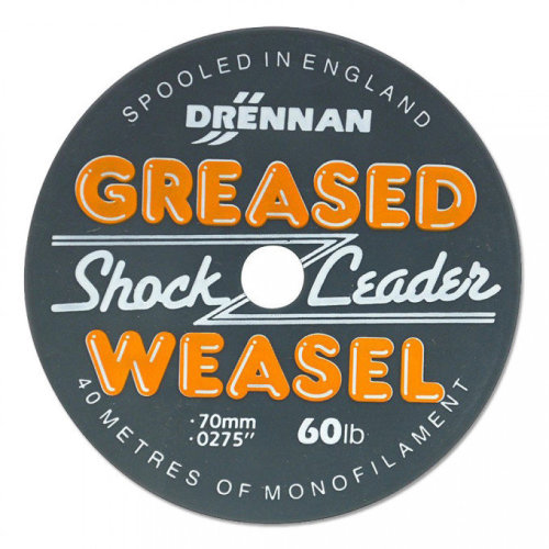 Drennan Greased Weasel Shock Leader Fire Orange 60lb