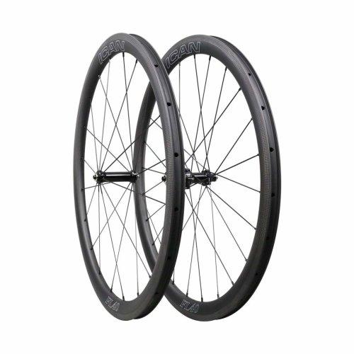 ICAN FL40 Carbon Clincher Road Bike Wheelset