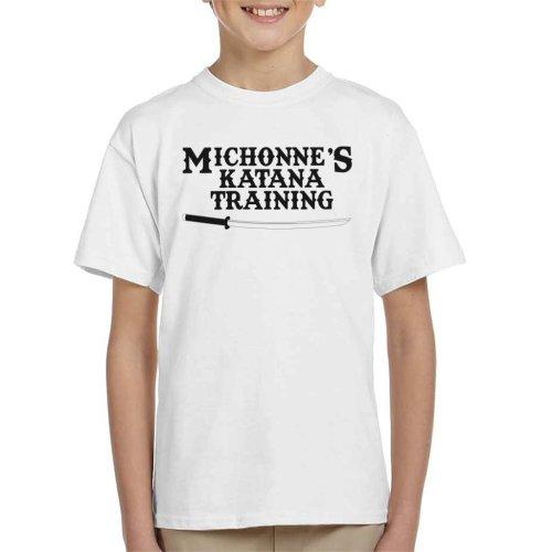 Michonnes Katana Training Walking Dead Kid's T-Shirt