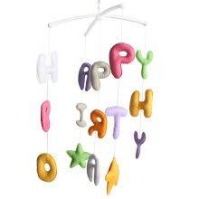 Crib Stroller Mobile - Baby Bedding Musical Mobile [Happy Birthday]