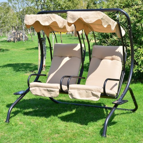 Outsunny | 2 Seater Swinging Hammock Seat with Tray