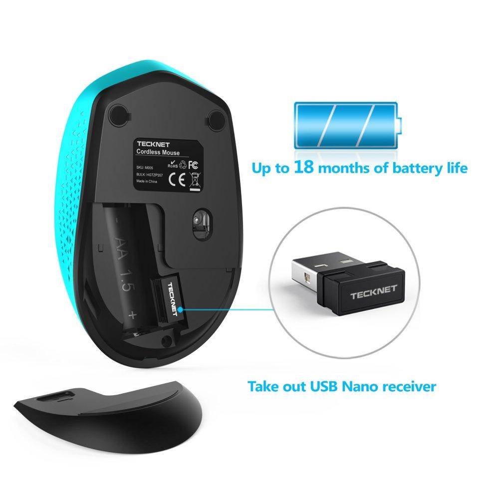 5cdb0a4e986 ... Wireless Mouse, TeckNet Omni Mini 2.4G Wireless Portable Mobile  Computer Mouse - 4 ...