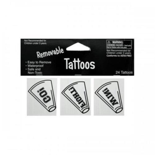 Bulk Buys Kk926 24Pk Wht Tattoos 040272 Pack Of 24