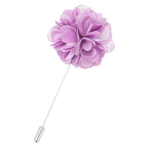 Lilac Plain Satin Lapel Pin