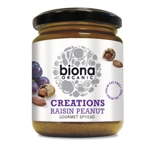 Biona Creations - Organic Raisin Peanut Spread 250g