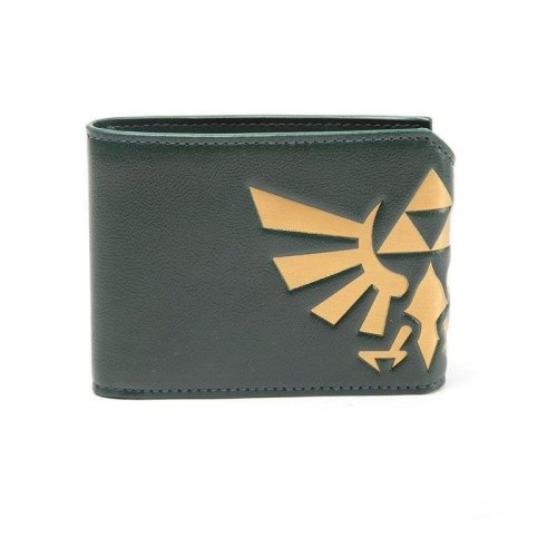 Legend of Zelda Hyrule Royal Crest BiFold Wallet - Green (MW140127ZEL)