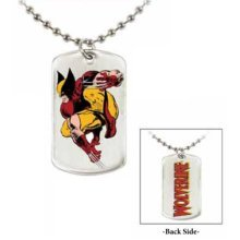 """Jewel M Wolverine """"Crouch"""" Double-Sided Dog Tag"""