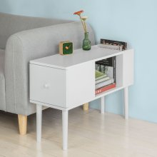 SoBuy® FBT60-W, Side Table End Table Coffee Table on Solid Wood Legs