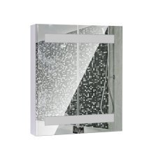 Homcom 3 Internal Shelves Wall Mount Led Light Illuminated Mirror Cabinet Glass Single Door Bathroom 80lx60hx15d(cm)
