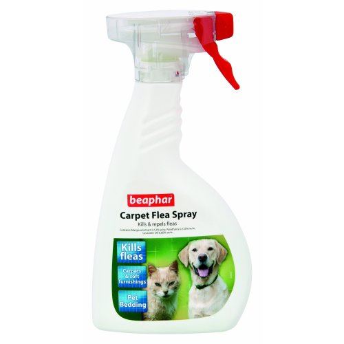 Beaphar Carpet Flea Spray Kills and Repels Fleas, 400 ml