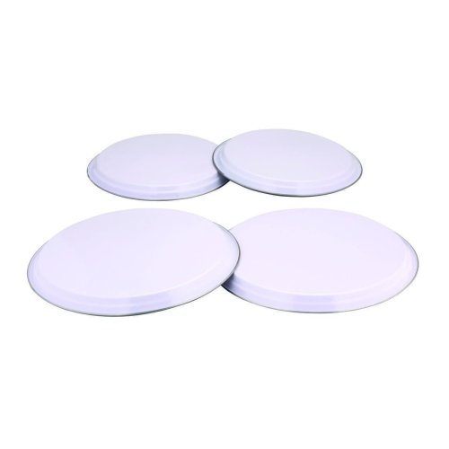 Zodiac 4-piece Hob Covers, White - 4 Cover Electric Steel Cooker Covers -  hob white 4 cover zodiac electric steel cooker covers stainless set