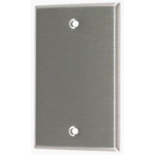 Leviton Stainless Steel Single Gang Blank Box Mount  004-84014-04