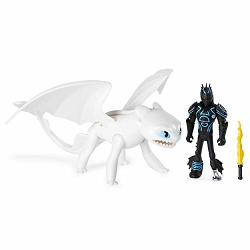 DreamWorks Dragons Lightfury and Hiccup - Armored Viking Figure
