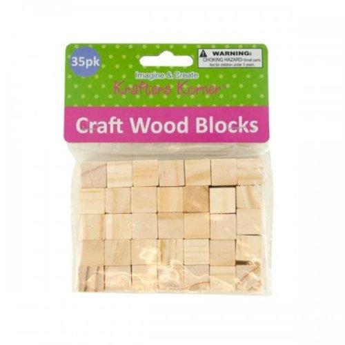 Krafters Korner CC078 Natural Wooden Craft Blocks, Brown & Beige