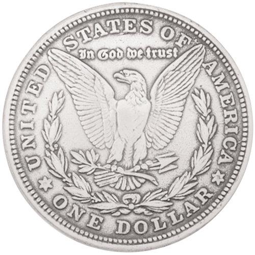 """Concho Silver Screwback 1.375""""-Morgan Dollar"""