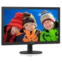 Philips 240V5QDSB 24In Widescreen IPS Monitor -DVI HDMI VGA