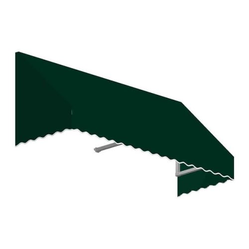 Awntech EF1836-US-4F 4.38 ft. San Francisco Window & Entry Awning, Forest Green - 18 x 36 in.
