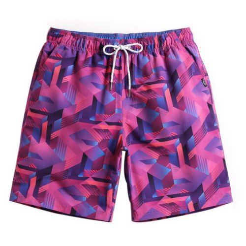 Men's Sports Casual Beach Loose Fashion Shorts, 3D Red