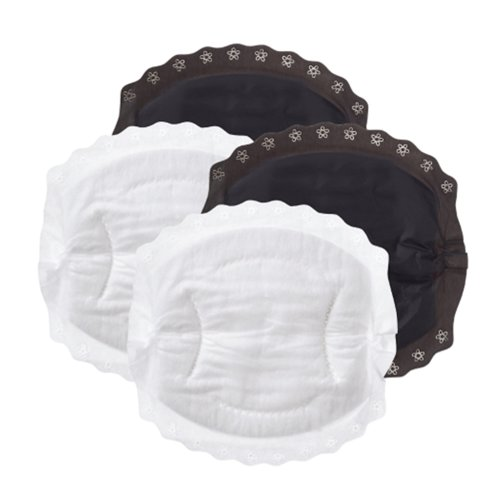 Nuby Natural Touch Disposable Breast Pads, Black and White, 50 Pads