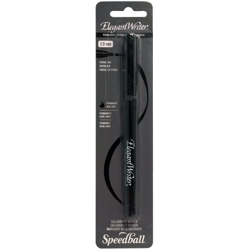 Speedball Elegant Writer Permanent Chisel Tip Marker 2mm -Black