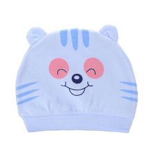 Set of 3 Cute Baby Hats Infant Caps Newborn Baby Cotton Hat Tiger Blue