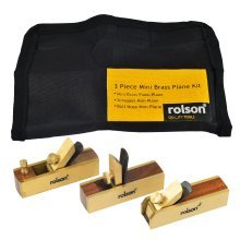 3 Piece Mini Brass Plane Kit - Rolson 5640 -  rolson 56403 mini brass plane kit