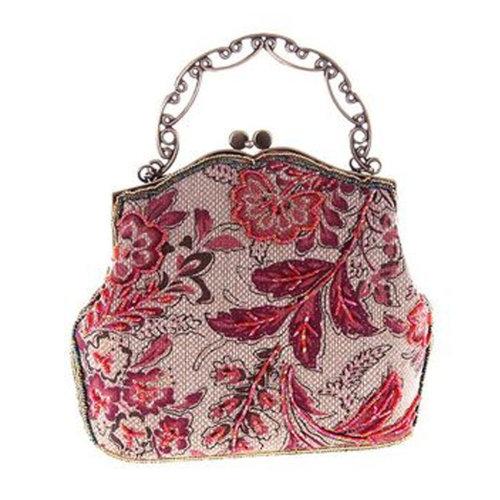 Women's Vintage Style Clutch Evening Bag Elegant  Luxurious Handbag Purse-Banquet-Cocktail Party,E