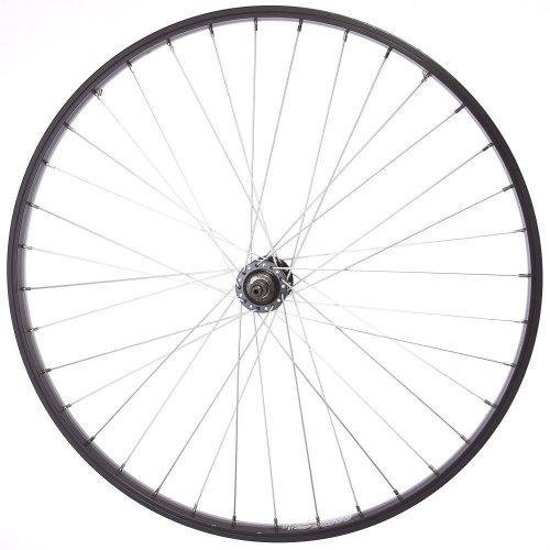 "REAR 26"" 7 SPEED CASSETTE WHEEL for MOUNTAIN BIKE/CYCLE Quick Release Black Rim"