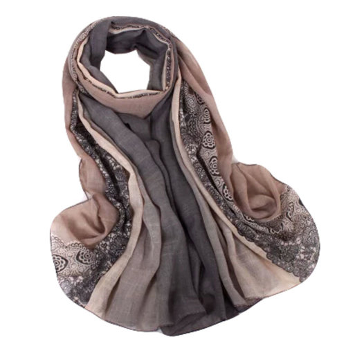 Fashion Scarves Winter Warm Cotton&Linen Scarf Infinity scarf,Gray