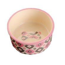 Porcelain Bone Pets Bowls Dogs Cats Bowls Pet Supplies Cat Accessories - Pink