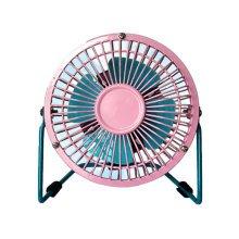 Mini Fan,Portable Fan, USB Fan, Desktop Fan(Pink and Blue,4INCH)