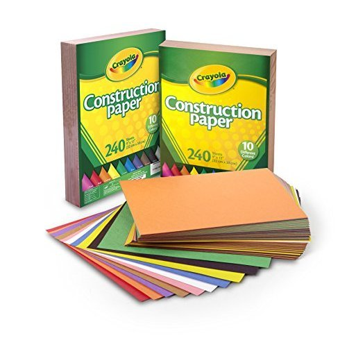 Crayola Construction Paper 480 Count 2 Packs of 240 Each 10 Different Colors