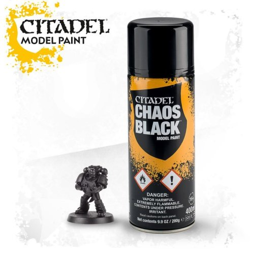 Warhammer Paint: Chaos Black Spray