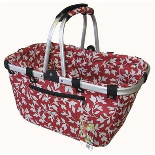 Collapisble Basket - Red Floral