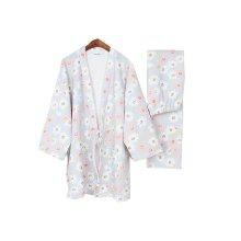 Daisy Cotton Loose Pajamas Women's Pajamas Suit Autumn & Winter Thicken Kimono